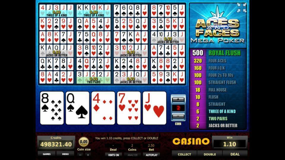 Изображение игрового автомата Aces and Faces Mega Poker 1