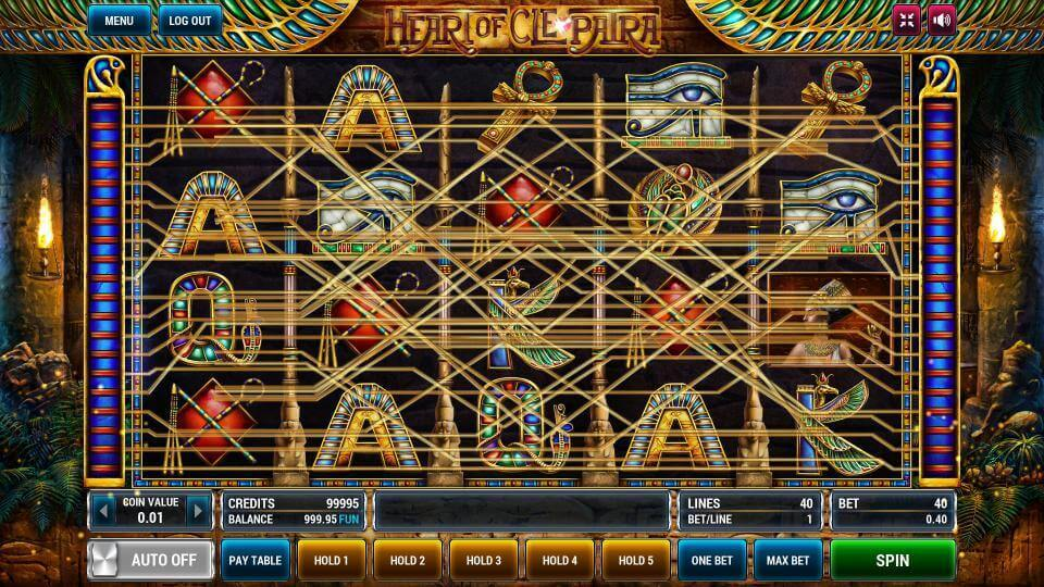 Изображение игрового автомата Heart of Cleopatra 1