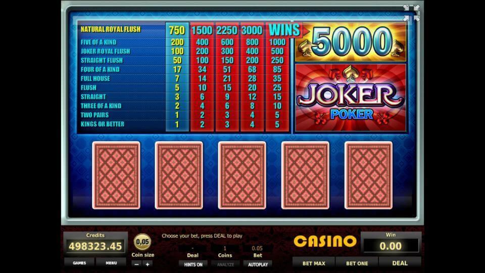 игровой автомат double joker poker